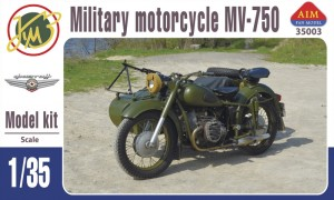 AIM35003 MV-750 Soviet military motorcycle with sidecar (thumb19300)