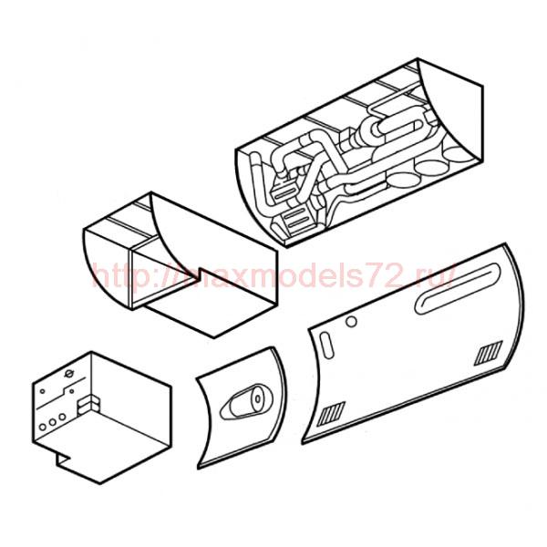 "TC48019 Mil Mi-24 ""Hind"" Air-Condition Compartment Set 1/48 (thumb23550)"