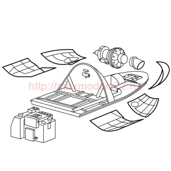 "TC72014 Mil Mi-24 ""Hind"" Auxiliary Power Unit & Main Hydraulic Block Set 1/72 (thumb23595)"