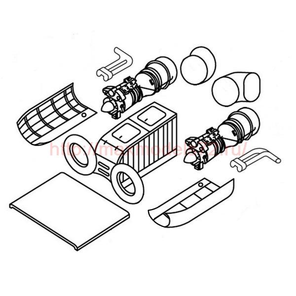 "TC72025 Kamov Ka-27 ""Helix"" Engine Detail Set 1/72 (thumb23626)"