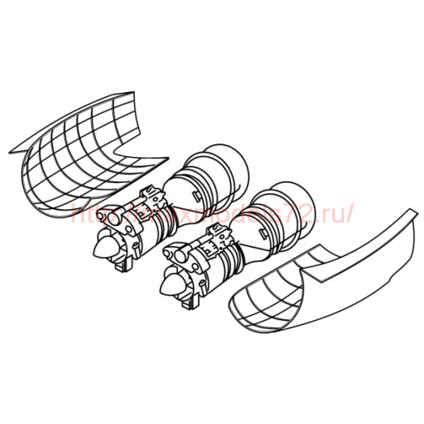 "TC72026 Mil Mi-28 ""Havoc"" Engine Detail Set 1/72 (thumb23628)"