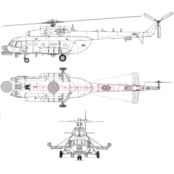 """TC72040 Mil Mi-8 MNP-2 """"Hip"""" Conversion Detail Set 1/72 (thumb23692)"""