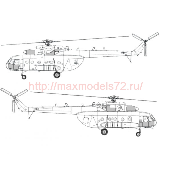 "TC72047 Mil Mi-17-1V ""Hip"" (Poland Air Force) Extenal Armour - Power unit & Pilot cabin Set 1/72 (thumb23711)"