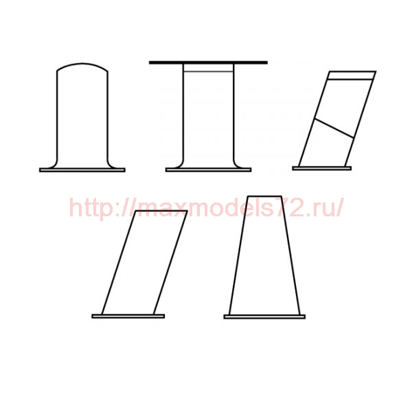 "TC72048 Mil Mi-8/17 ""Hip"" Antennas Set 1/72 (thumb23716)"