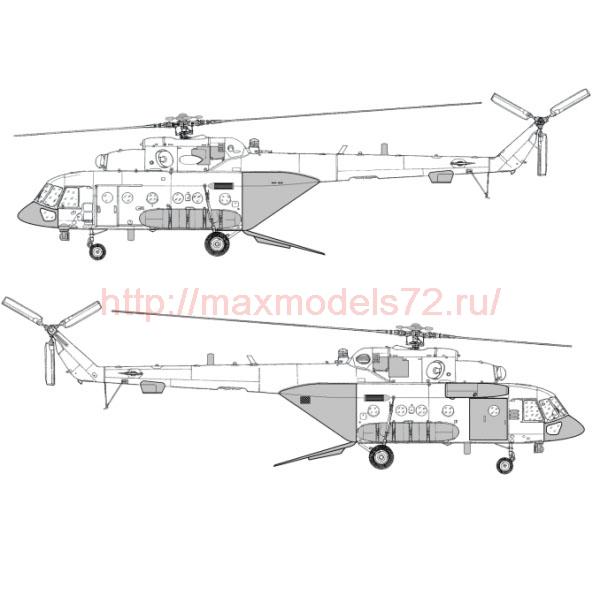 "TC72049 Mil Mi-8 AMTSh ""Terminator"" Conversion Detail Set 1/72 (Open Ramp) (thumb23721)"