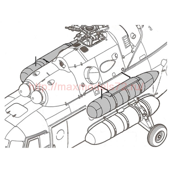 TC72052 VDB 6130.200 External Fuel Tank 1/72 (thumb23730)