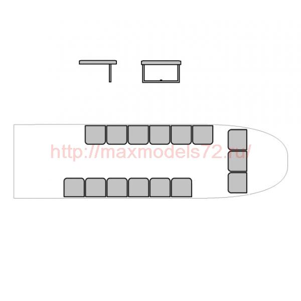 """TC72058 Kamov Ka-32 """"Helix-C"""" Passenger Seats 1/72 (thumb23755)"""