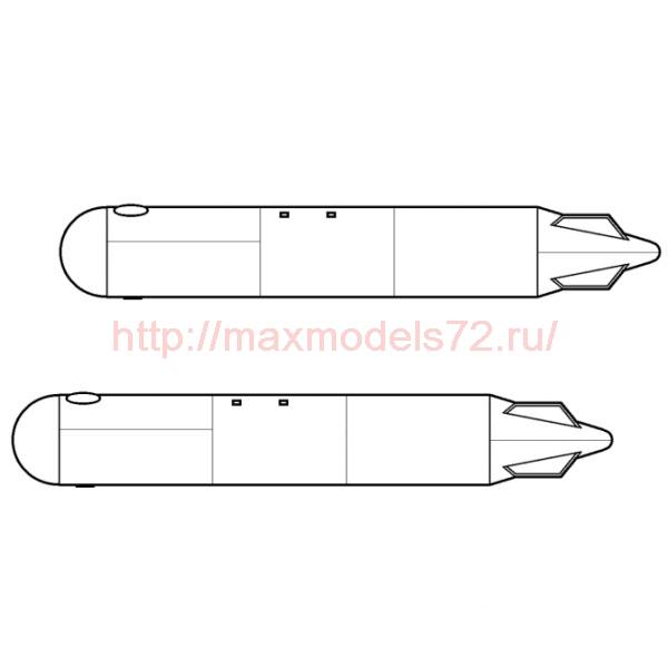 TC72074 External Fuel Tank 500 litres (x2) For Mil Mi-8/17, Mi-24/35 kits 1/72 (thumb23762)