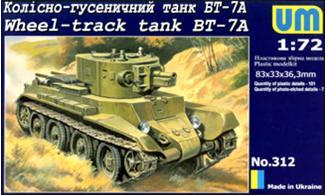UMT312   BT-7A Soviet wheel-track tank (thumb20736)
