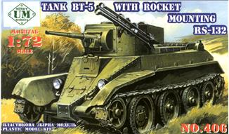 UMT406   BT-5 Soviet tank with RS-132 rocket system (thumb20764)