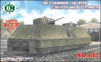 UMT612   OB-3 armored railway car with two T-26 turrets (1933) (thumb20792)