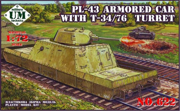UMT622   PL-43 armored car with T-34/76 turret (thumb20810)