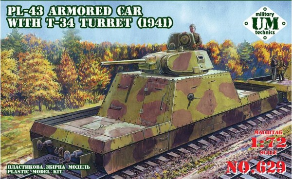 UMT629   PL-43 armored car with T-34 turret, 1941 year (thumb20814)