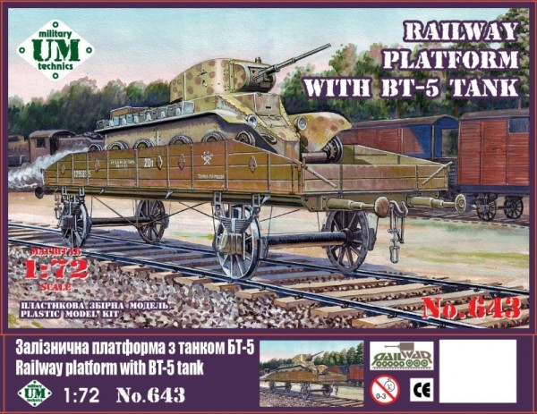 UMT643   Railway platform with BT-5 tank (thumb20834)
