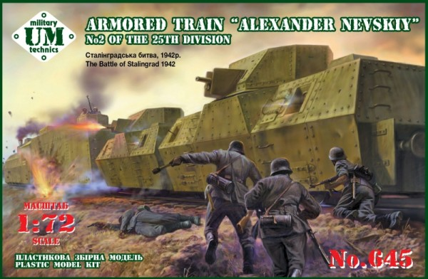 "UMT645   Armored train ""Alexander Nevskiy"" No2 of the 25th division (The battle of Stalingrad 1942) (thumb20838)"