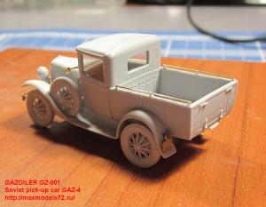 GZ-001 Soviet pick-up car GAZ-4 (attach3 21715)