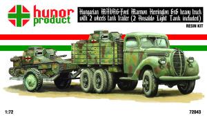 HP72043 41M FORD 6x6 TRUCK (MAVAG - MARMON HERRINGTON) + 2 wheels trailer + 2 ANSALDO (thumb21353)