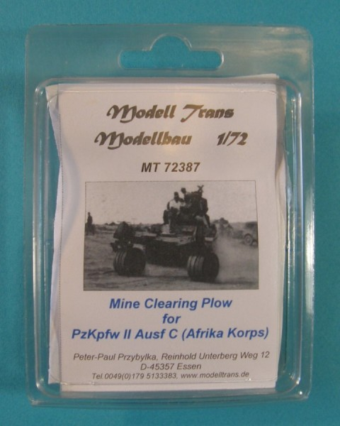 MTrans72387   Mine Clearing Plow for Panzer II C (Afrika Korps) (thumb22488)