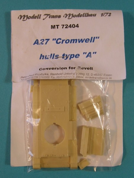 """MTrans72404   A27 """"Cromwell"""" tank hulls type """"A"""".Conversion for Revell (thumb22494)"""