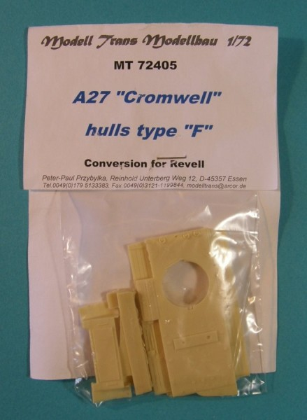 "MTrans72405   A27 ""Cromwell"" tank hulls type ""F"". Converion for Revell. (thumb22497)"