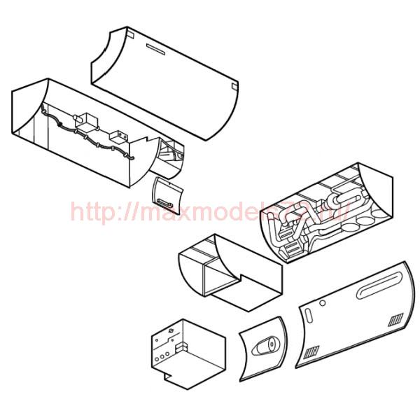 "TC48010 Mil Mi-24 ""Hind"" Air-Condition Compartment & Ammo Box Set 1/48 (thumb23543)"