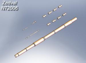 ZdN72006 Набор деталей для Т-72Б, Т-72С, Т-80Б, Т-80БВ, Т-80УД, Т-80УМ, Т-64Б. (thumb21324)