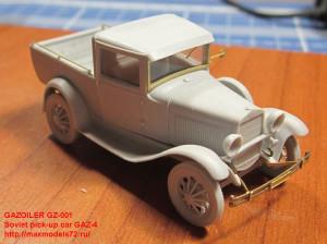 GZ-001 Soviet pick-up car GAZ-4 (attach2 21715)