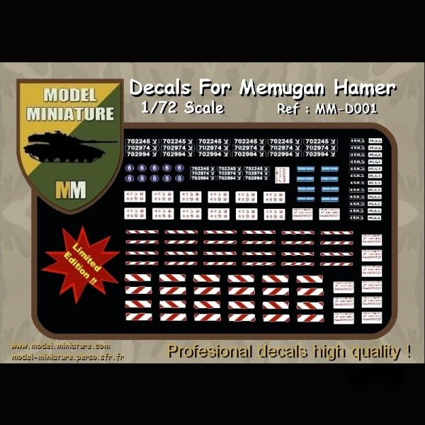 MM-D001   Decals for Memugan Hamer (1/72) (thumb22192)