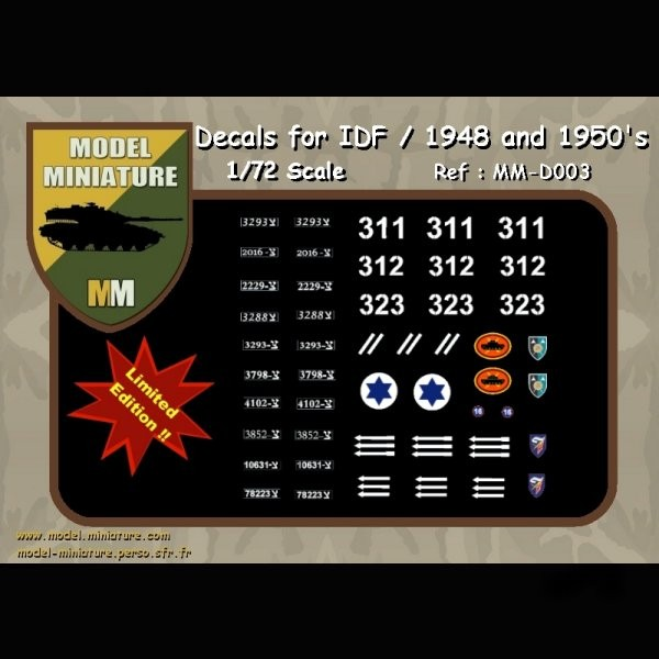 MM-D003   Decals for IDF/ 1948 and 1950's (thumb22195)