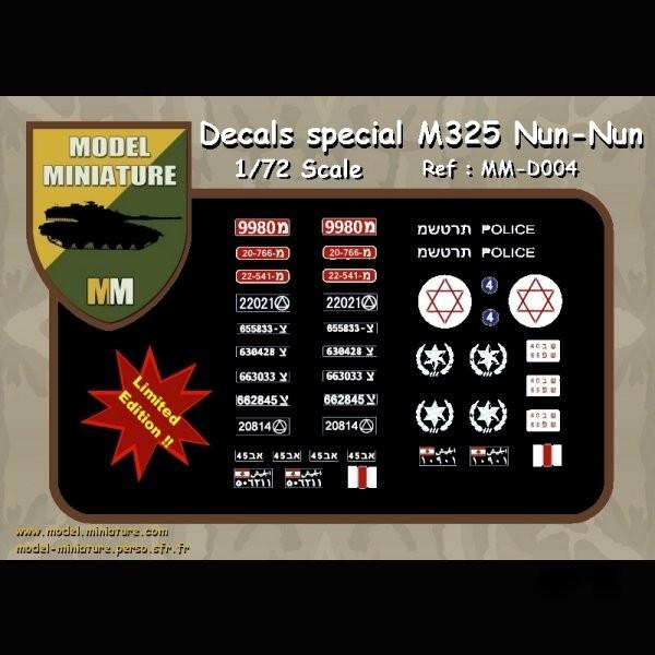 MM-D004   Decals special M325 Nun Nun (thumb22197)