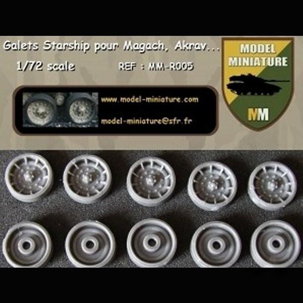 MM-R005   Wheels Starships for M-60, Magach, Tagash, Akrav (14 galets) (thumb22111)