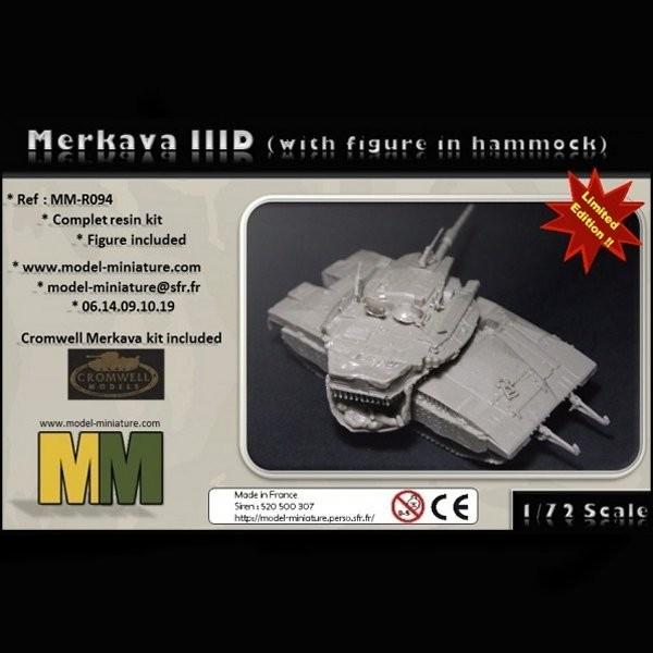 MM-R094   Merkava IID with figure in hammock (thumb22148)