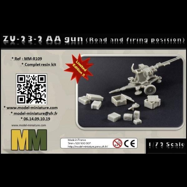 MM-R109   ZU-23-2 AA gun (road and firing position) (thumb22172)