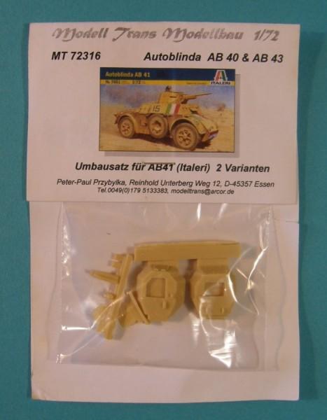 MTrans72316   AB 40/43  Umbausatz f?r zwei Fahrzeuge (Italeri) (thumb22407)