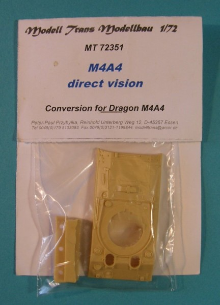 MTrans72351   M4A4 direct vision. Conversion for Dragon M4A4 (thumb22424)