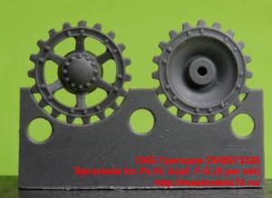 OKBS72326   Sprockets for Pz.IV, Ausf. F-G (8 per set) (thumb21438)