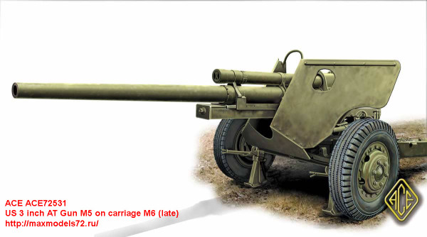 ACE72531   US 3 inch AT Gun M5 on carriage M6 (late) (thumb30985)