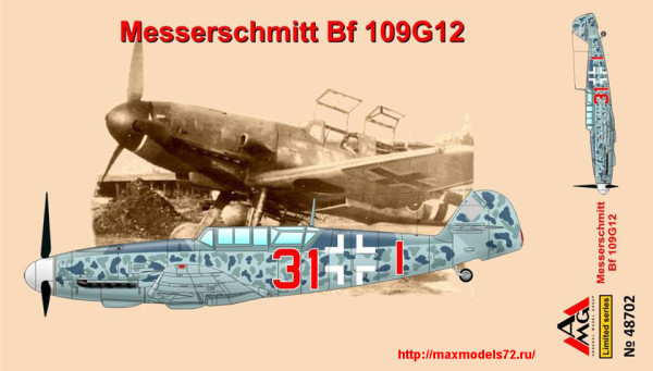 AMG48702   Messerschmitt Bf109G-12 (trainer), early (thumb24326)