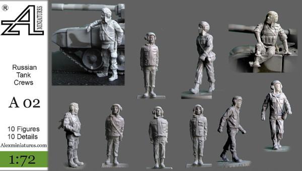 AMinА02 Российские танковые экипажи, 1:72, Alex miniatures, шт (thumb22558)