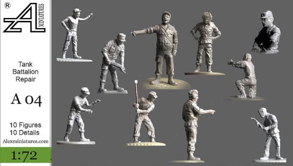 AMinА04 Танковый ремонтный батальон, 1:72, Alex miniatures, шт (thumb22562)