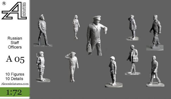 AMinА05 Российские офицеры штаба, 1:72, Alex miniatures, шт (thumb22564)