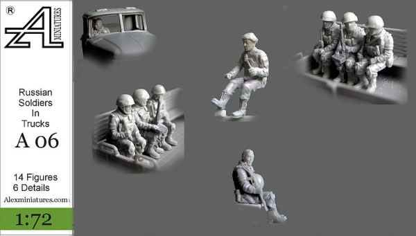 AMinА06 Российские солдаты в грузовике, 1:72, Alex miniatures, шт (thumb22566)