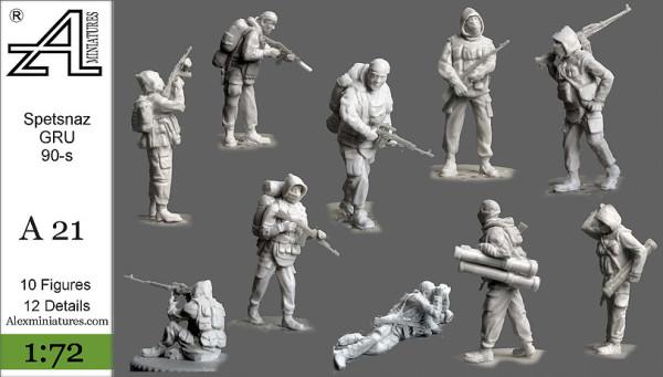 AMinА21 Спецназ ГРУ 90-е годы , 1:72, Alex miniatures, шт (thumb22596)