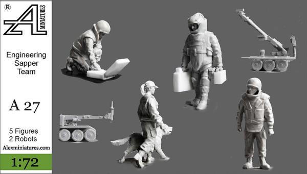 AMinА27 Инженерно-саперный отряд МВД, 1:72, Alex miniatures, шт (thumb22608)