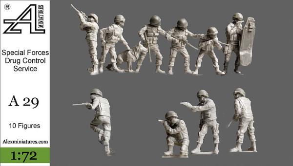 AMinА29 Спецназ ФСКН, 1:72, Alex miniatures, шт (thumb22612)
