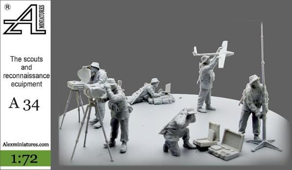 AMinА34 Разведгруппа и средства разведки, 1:72, Alex miniatures, шт (thumb22622)