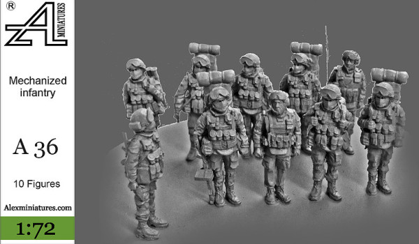 AMinА36 Мотострелковое отделение, 1:72, Alex miniatures, шт (thumb22626)