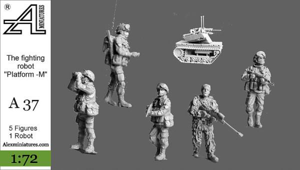 "AMinА37 Боевой робот ""Платформа-М"", 1:72, Alex miniatures, шт (thumb22628)"