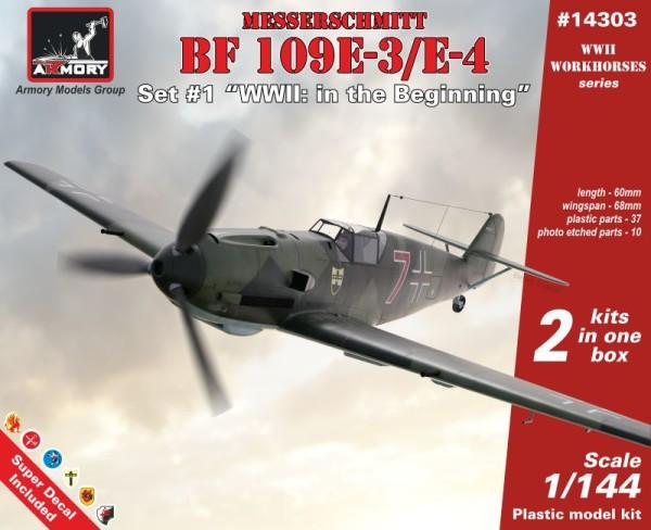 """AR14303   1/144 Messerschmitt Bf 109E """"WWII: in the beginning"""" (thumb24079)"""