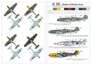 """AR14304   1/144 Messerschmitt Bf 109E """"Battle of Britain Aces"""" (attach1 24085)"""